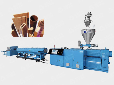 PE / PP Wood Plastic Profile Extrusion Line