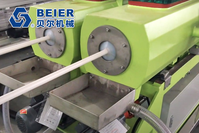 20-63mm PVC Dual Pipe Extrusion Line
